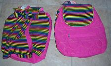Littlemissmatched Bright Colored Stripe/Pink Stars Backpack MSRP $18 NWT