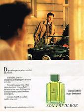 PUBLICITE ADVERTISING 064  1985  GUCCI   parfum homme  NOBILE