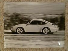 1995 Porsche 911 Carrera 4 Coupe B&W PressPhoto Factory Issued RARE Awesome L@@K