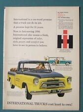 1958 International Truck Ad  International trucks cost least to own