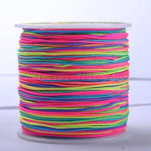 (1Roll & 100Yards) Chinese Knot Macrame Bracelets Braided Nylon Cord Thread 1MM