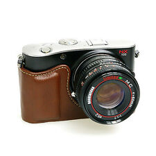 New Synthetic Leather HORUSBENNU Camera Half / Bottom Case for samsung NX100