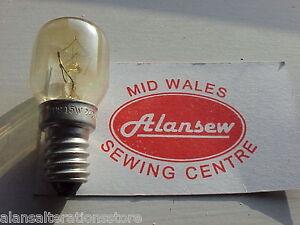 Sewing Machine 220 - 240v 15w  Standard Screw in  Clear Bulb TYPE E