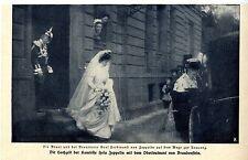 Boda de la condesa Hela Zeppelin y Olt. de Brandenstein imagen documento 1909