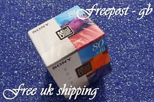 1 x SONY COLOURED DIGITAL AUDIO MINI DISCS MDW-80 MINUTES SHOCK ABSORBING SYSTEM