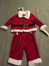 .INFANT BOY CHEROKEE SANTA 2 PIECE SET sz 0-3 MONTHS NEW
