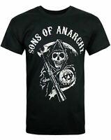 Sons of Anarchy SAMCRO Motorcycle Club Reaper Logo Men's Black T-Shirt