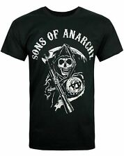 Sons of Anarchy SAMCRO Motorcycle Club Reaper Logo Men's Black T-Shirt