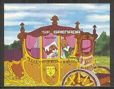 Grenada #1136, 1982 Christmas - Walt Disney Robin Hood Characters, SS1 Unused NH