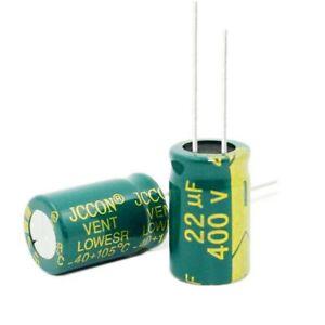 400V 22uF Radial Aluminium Electrolytic Capacitors 22uF 400V 105°C 13x21mm