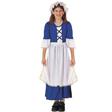 Colonial Girl Child Pilgrim Early American Halloween Costume-Xl