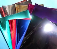 20 X A5 sheets  SHINY GLOSSY METALLIC  MIRRI PAPER   *NEW IN*