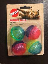 Spot SHIMMER BALLS 4 Pack Cat Toys Plastic Balls