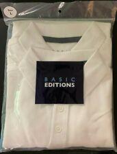 Boys White Polo Short Sleeve Size L10/12 New School Uniform 2 Pack Basic Edition