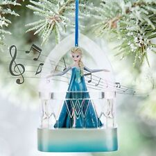 DISNEY STORE FROZEN ELSA SINGING MUSICAL ORNAMENT XMAS BNWT TREE DECORATION