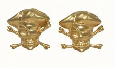 CUFFLINKS PIRATES URSO LUXURY IN STERLING SILVER 925 GOLD PLATED AND ENAMELS