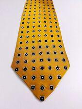 New JOSEPH & LYMAN Silk Men's Neck Tie 3 3/4W  61L Classic Yellow Long  T9