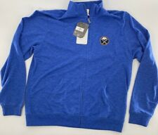 Buffalo Sabres Levelwear Womens Track Jacket Blue Zip Front NHL Hockey L New