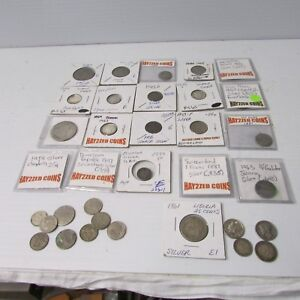 Silver Coin Lot Collection of World Coins ~ See Details