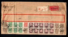 China 1946 air registered mail from Shanghai to USA