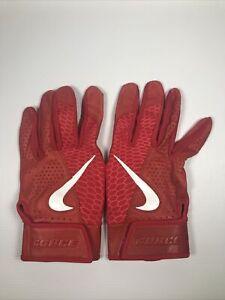 Men's Red Nike Force Elite Batting Gloves Size XL