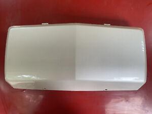 2002-2006 CADILLAC ESCALADE FRONT BUMPER LICENSE PLATE FILLER COVER WHITE