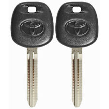 Lot of 2 Genuine OEM Transponder Key Chip Ignition Logo For Toyota G Chip Uncut