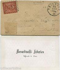 """REGNO, ANNULLO TRIVENTO (CB), 1874, + NUMERALE """"2352"""" SU FRANCOBOLLO C.2     m"""