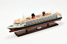 "Disney Magic Cruise Ship Handmade Wooden Ship Model 32"" with lights"