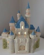 1988 Disney Magic Kingdom Princess Castle Light Up Ceramic Statue Sears