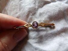 9 Carat Amethyst Brooch/Pin Edwardian Fine Jewellery