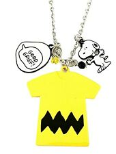 Charlie Brown and Snoopy Themed Charm Metal Pendant Necklace