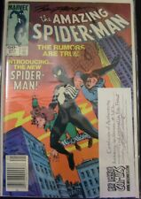 AMAZING SPIDER-MAN 252 MARVEL COMIC 1ST BLACK COSTUME SIGNED SKETCH 1984 NM
