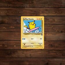 Surfing Pikachu Trading Card (Pokemon) Decal/Sticker