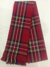Vérifiez tartan rouge écossais mode hiver écharpe Royal Stewart-une armoire essentiel