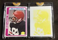 1978 Topps Vault Billy Brooks - Proof Cards - Each 1 Of 1 - Cincinnati Bengals