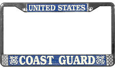 US COAST GUARD HIGH QUALITY METAL LICENSE PLATE FRAME - MADE IN THE USA !!