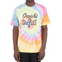 Crooks and Castles Men's Reverse Core Tie Dye Short Sleeve T Shirt Multi Tees