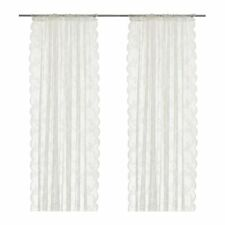 DAY LIGHT THROUGH IKEA ALVINE SPETS Net curtains, 1 pair, off-white