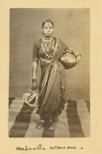 Mahrabta Woman India.  Albumen Print