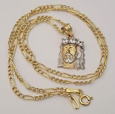 Mens multi tone gold chains necklaces and pendants ebay jesus crucifix cross pendant 14k white yellow gold charm aloadofball Image collections