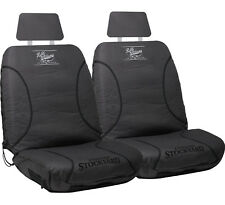 2025 RM Williams Stockyard Canvas Car Seat Covers Charcoal FREE POSTAGE - Size30