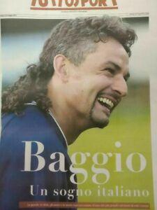BAGGIO ROBERTO.SPECIALE INSERTO TUTTOSPORT 22 MAGGIO 2021