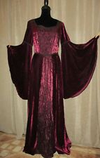 Nwot Pyramid Collection red velvet stretch Medieval Renaissance gown dress S M