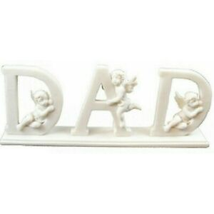 Dad Letters with Cherub Angel Home Decoration Fathers Day Memorial Ornament Gift