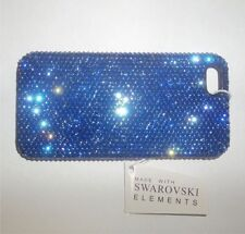 New Apple iPhone 5 5s and SE Bling Bling Plain Blue Color Made with Sw