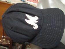 "VINTAGE ""M"" EMBROIDERED NAVY BLUE NEW ERA 7 MAJOR LEAGUE PRO CAP"