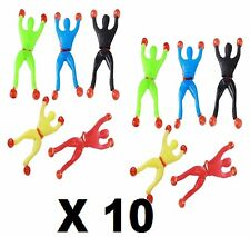 10 Pcs Sticky Wall Climbing Flip Rolling Man Spider man Kids Toy xmas party bag