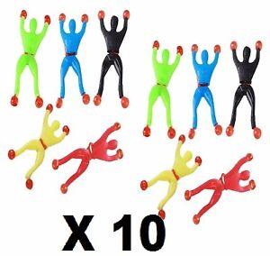 10 Pcs Sticky Wall Climbing Flip Rolling Man Spider man Kids Toy xmas party bag