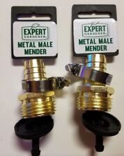 EXPERT METAL MALE MENDER *2 PACK* HOSE CONNECTOR NEW WITH TAGS SHIPS FAST!
